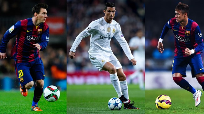 Messi, Ronaldo and Neymar Nominated For FIFA Ballon d'Or 2015